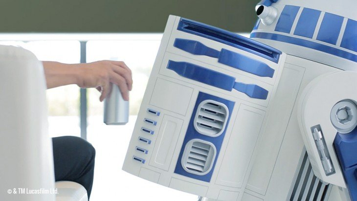 R2-D2 refrigerador movil escala 1:1