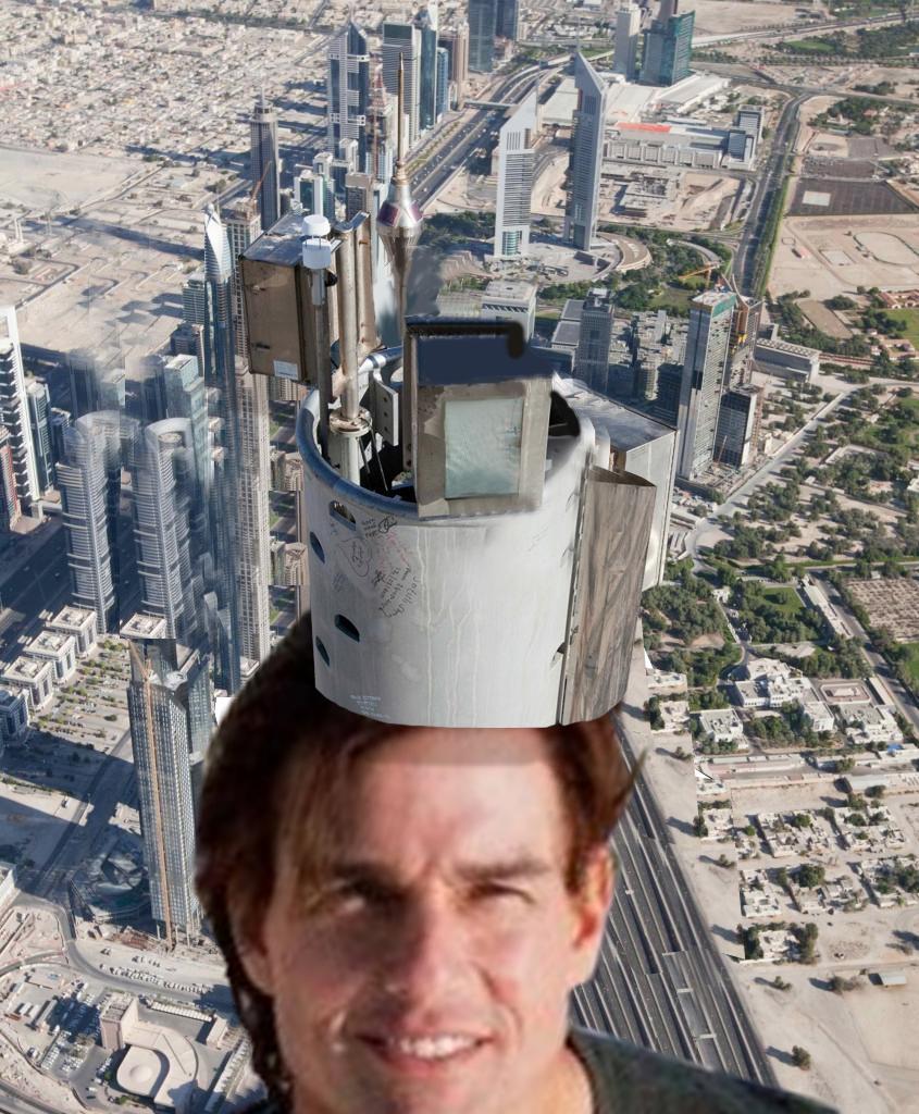 Tom Cruise Sube A La Torre M 225 S Alta Del Mundo Photoshop