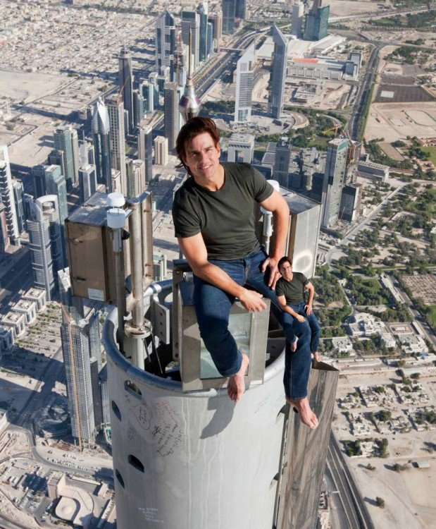 photoshop Tom Cruise rodilla