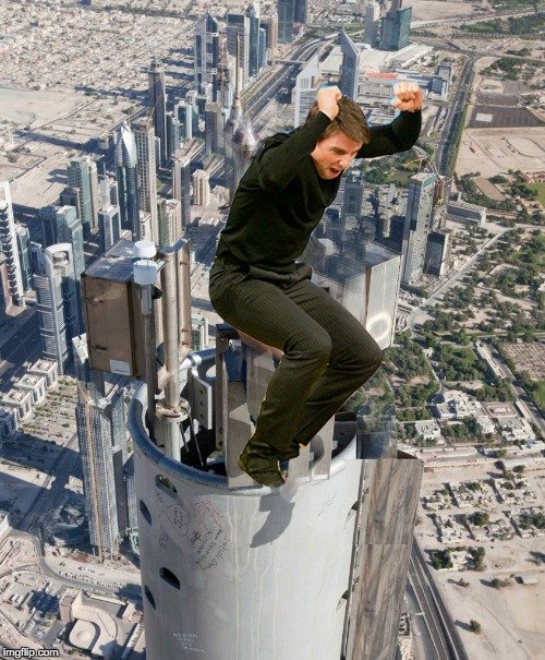 photoshop Tom Cruise saltando