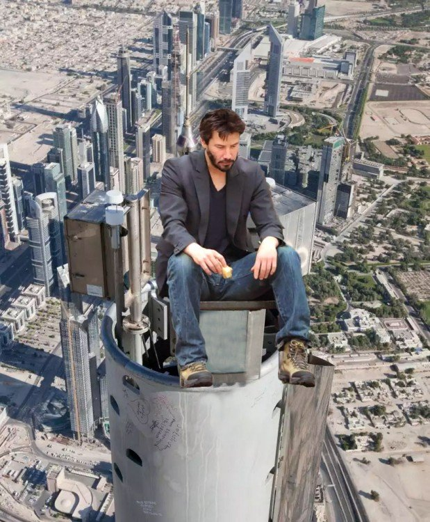 photoshop Tom Cruise y keanu revees