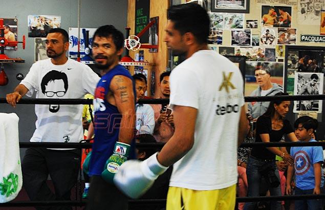 pacquiao y amir khan entrenando juntos