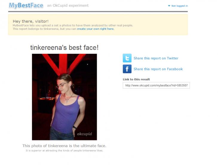 Fotografía para perfil elegida por MyBestFace