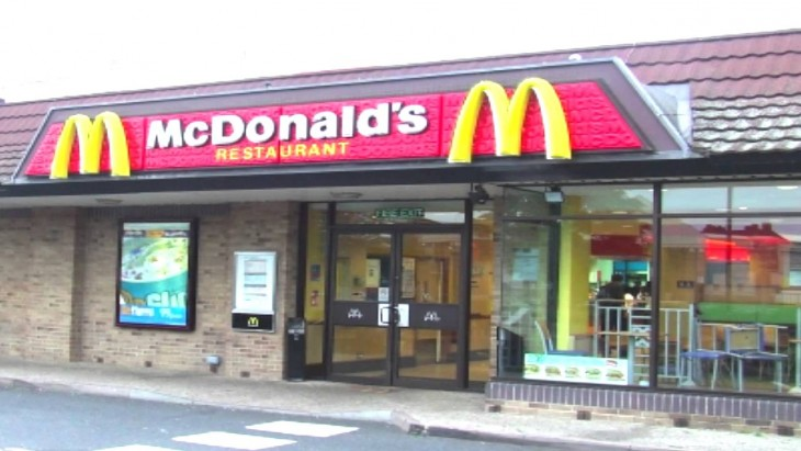 Entrada a McDonald's