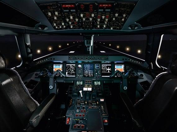 Cabina de un jet privado