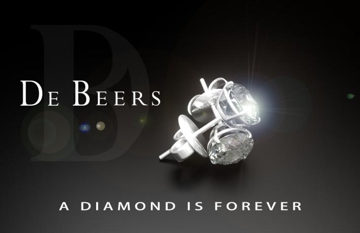 Publicidad de joyería De Beers