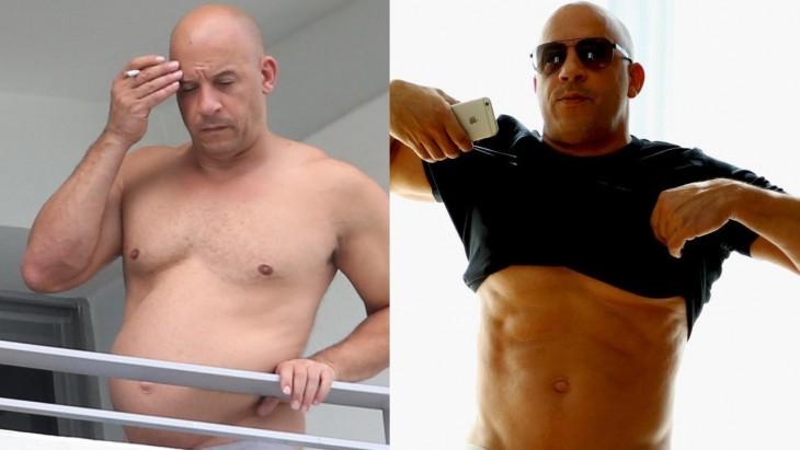vin Diesel y los cambios en su cuerpo