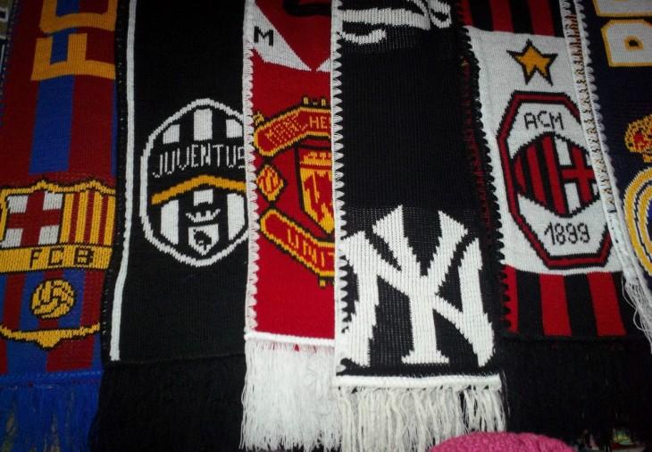 Bufandas de equipos de futbol