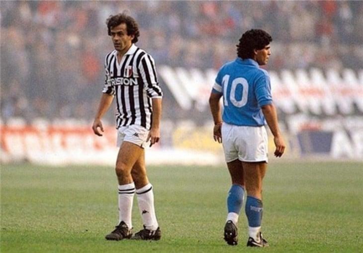 Maradona en la cancha