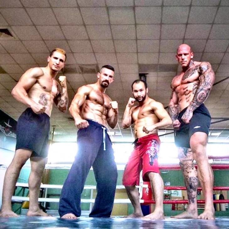 Peleadores en el ring