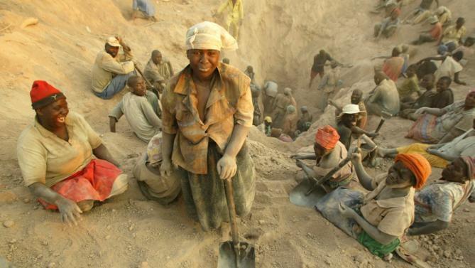 Mineros de diamantes De Beers