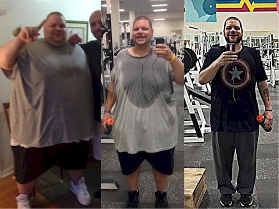 Transformación de hombre obeso