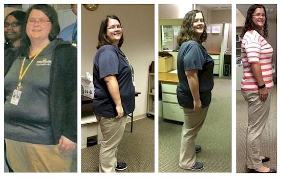 Mujer baja de peso
