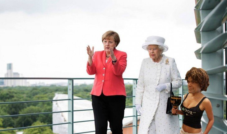 Fotomontaje de la realeza británica