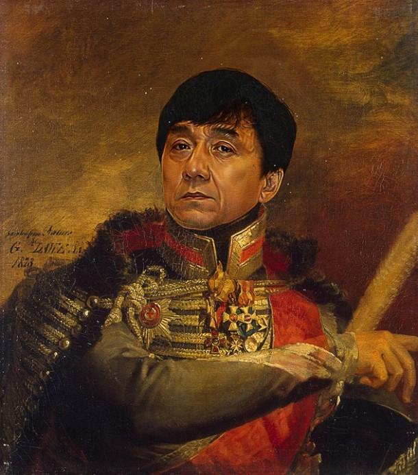 Jackie Chan vestido de general militar steve payne