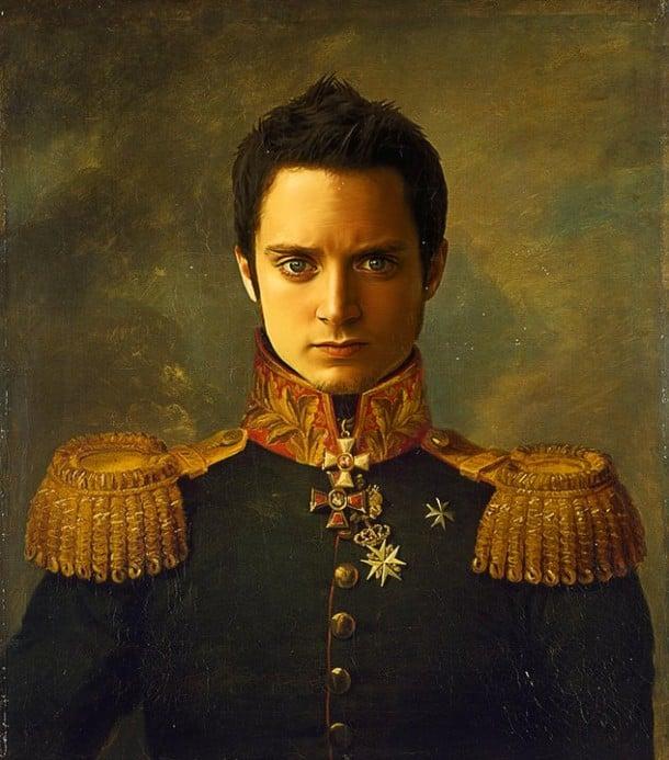 Elijah Wood retrato de general militar steve payne