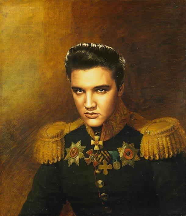Elvis Presley retrato de general militar steve payne