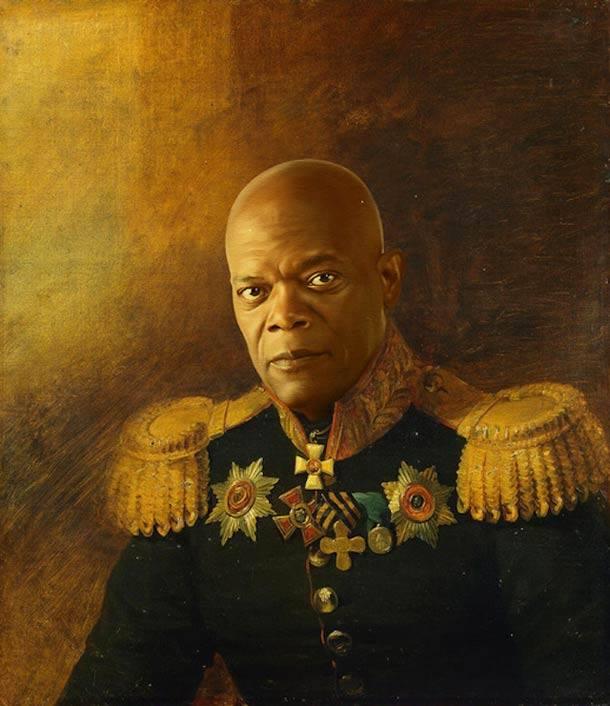 Samuel L Jackson vestido de general militar steve payne