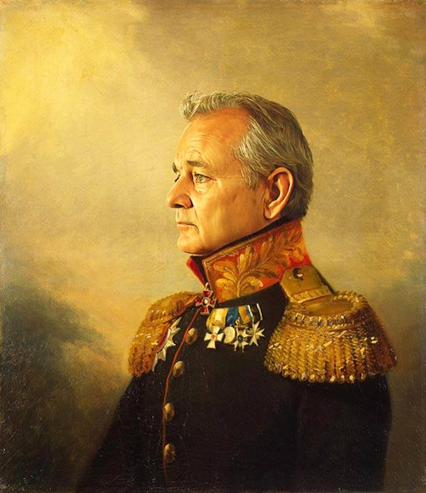 Bill Murray retrato de general militar steve payne