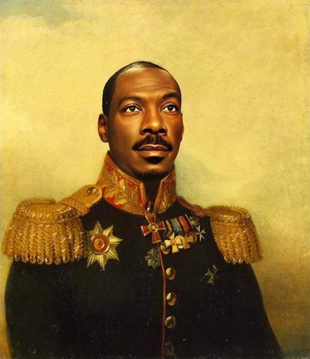 Eddie Murphy retrato de general militar steve payne