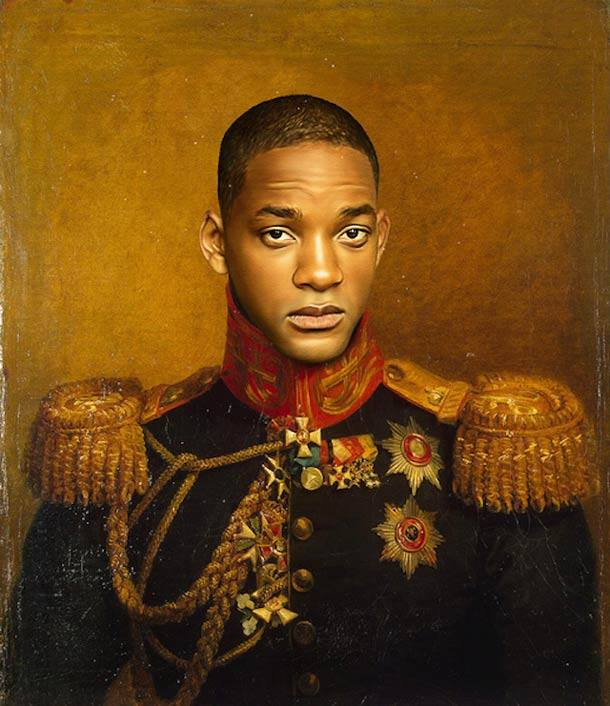 Will Smith retrato de general militar steve payne