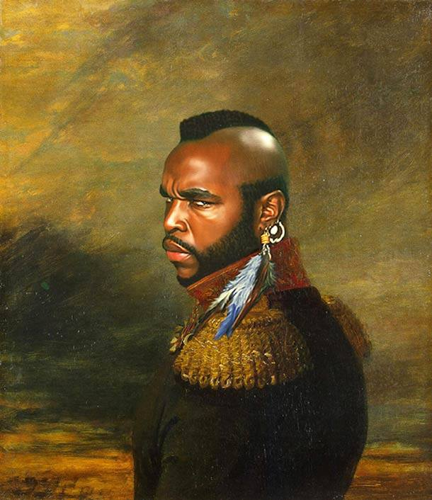 Mr T retrato de general militar steve payne