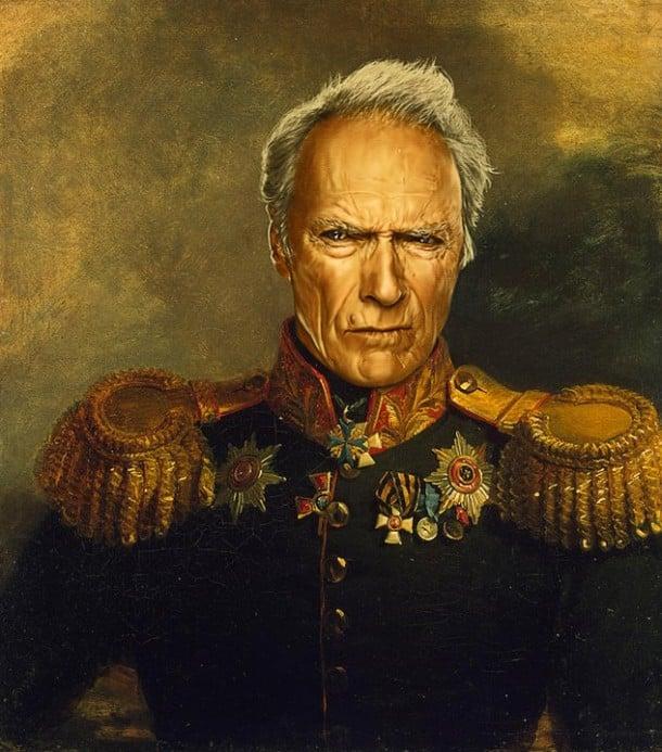 Clint Eastwood vestido de general militar steve payne