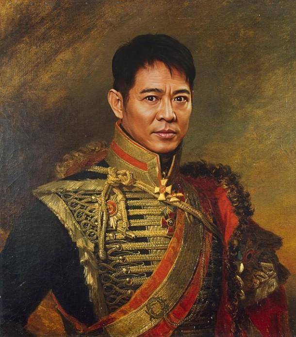 Jet Li retrato de general militar steve payne
