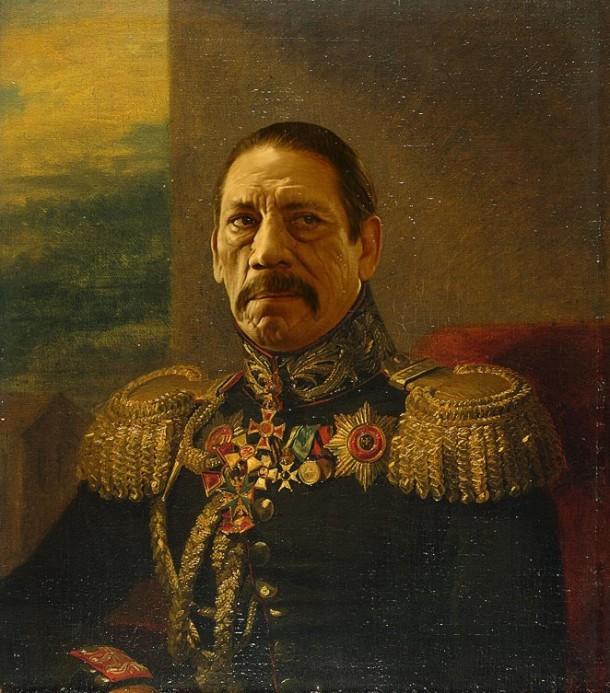 Danny Trejo retratado por artista Steve Payne como general militar