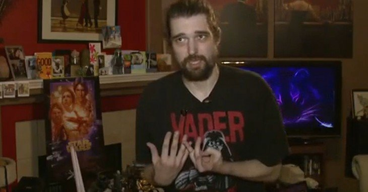 Daniel con plñayera de Darth Vader