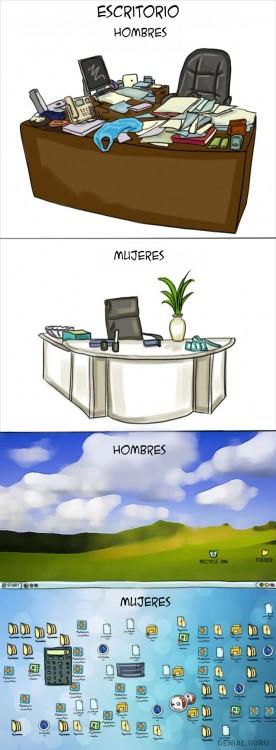 oficina Diferencias Hombres y mujeres