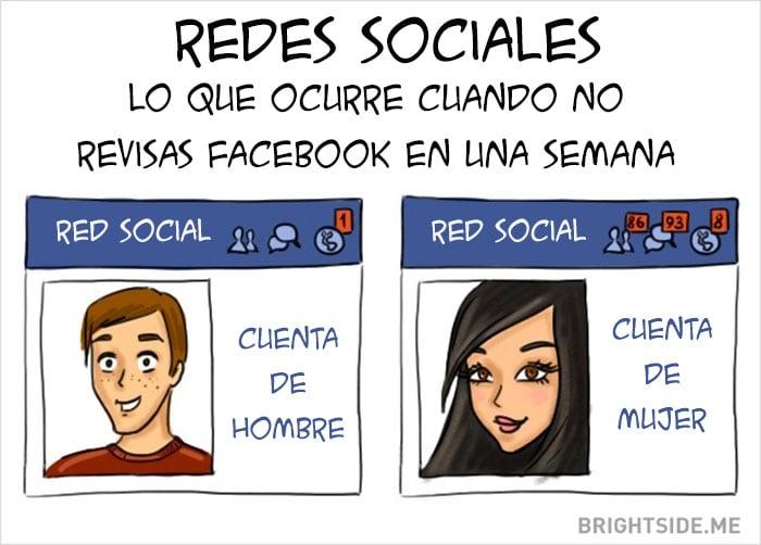 redes sociales Diferencias Hombres y mujeres