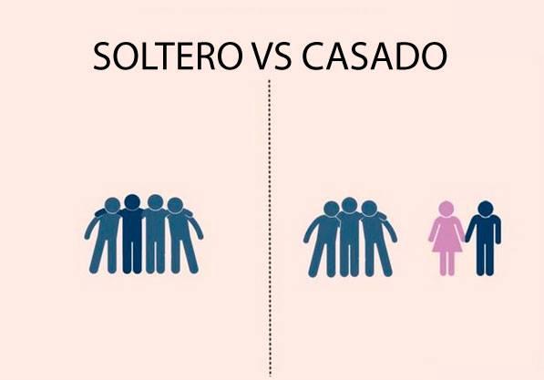 salir con los amigos, solteros vs. Casado