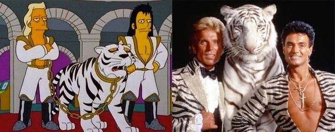 Los Simpson tigre blanco