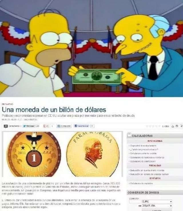 Los Simpson billete de un trillón