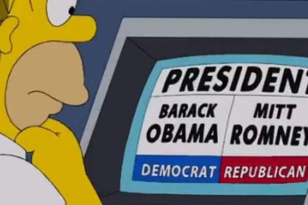 Los Simpson campañas electorales obama
