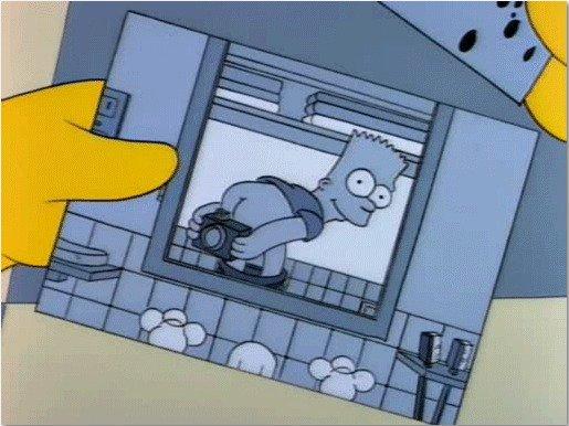 Los Simpson selfie
