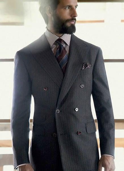 traje cruzado para hombres muy fanfarrones
