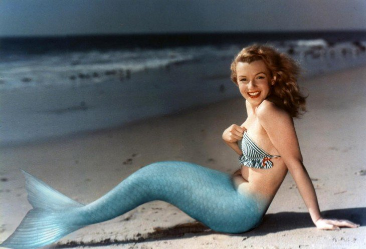 sirena, Photoshop de Marilyn Monroe
