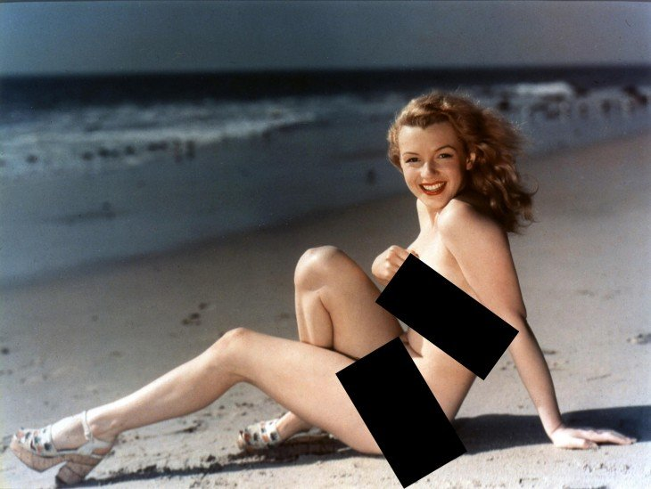 censurado, Photoshop de Marilyn Monroe