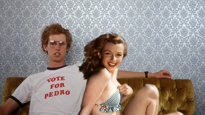 vote for pedro, Photoshop de Marilyn Monroe
