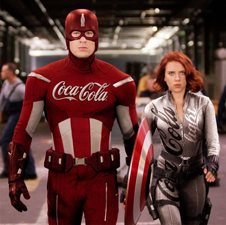 Captain America, Coca Cola