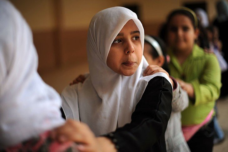 niña de libia