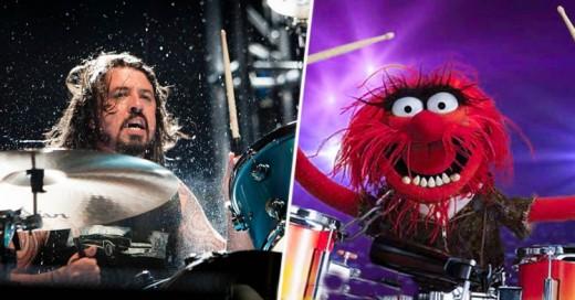 ¡Épico!: ¡Dave Grohl se Enfrenta a un Duelo de Batería Contra Animal de los Muppets!