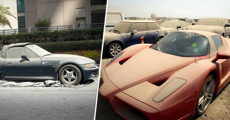 cuál es la razón para abandonar autos de lujo en dubai?
