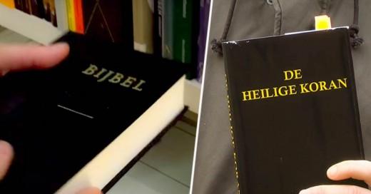 Bromistas disfrazan la biblia del Corán para comprobar estereotipos