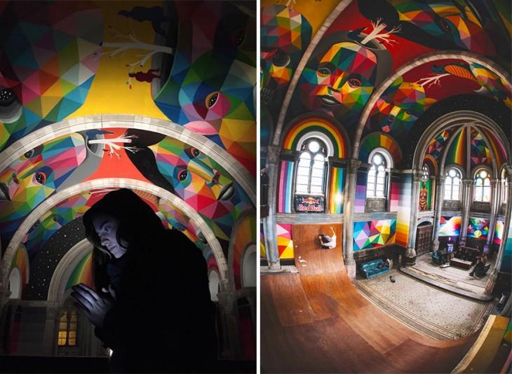 antes y después 'Iglesa Skate' de Llanera