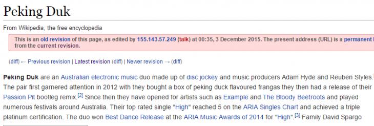 articulo editado de wikipedia de Peking Duk