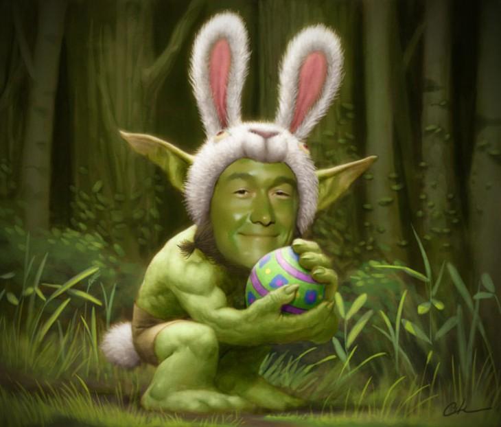 Conejo de pascua, Joseph Gordon-Levitt Yoda