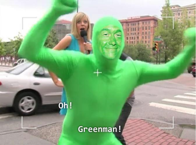 Joseph Gordon-Levitt Yoda hombre verde